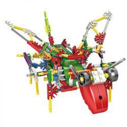 Loz 3021 Jungle Robots Electric Grasshopper Robot Xếp Hình Rô Bốt Châu Chấu động Cơ Pin 156 Khối