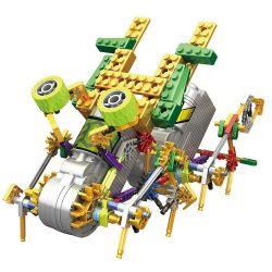 Lego Jungle Robots Loz 3022 Electric barefoot animal robot Xếp hình Rô bốt 8 chân động cơ pin kết hợp Loz-3011 và Loz-3012 208 khối
