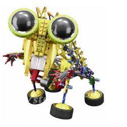 Lego OX- Eyed Robots Loz 3025 A0015 Electric mantis king robot Xếp hình Rô bốt bọ ngựa động cơ pin 389 khối