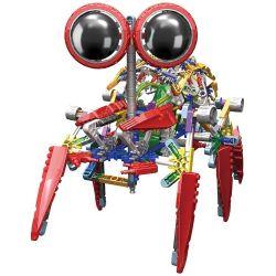 Loz 3028 A0018 OX- Eyed Robots Electric Spider King Robot Xếp Hình Rô Bốt Nhện động Cơ Pin 373 Khối
