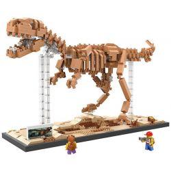 Nanoblock Jurassic World Loz 9023 Tyrannosaurus rex dinosaur Skeletons Xếp hình hóa thạch khủng long bạo chúa Tyrannosaurus rex 880 khối