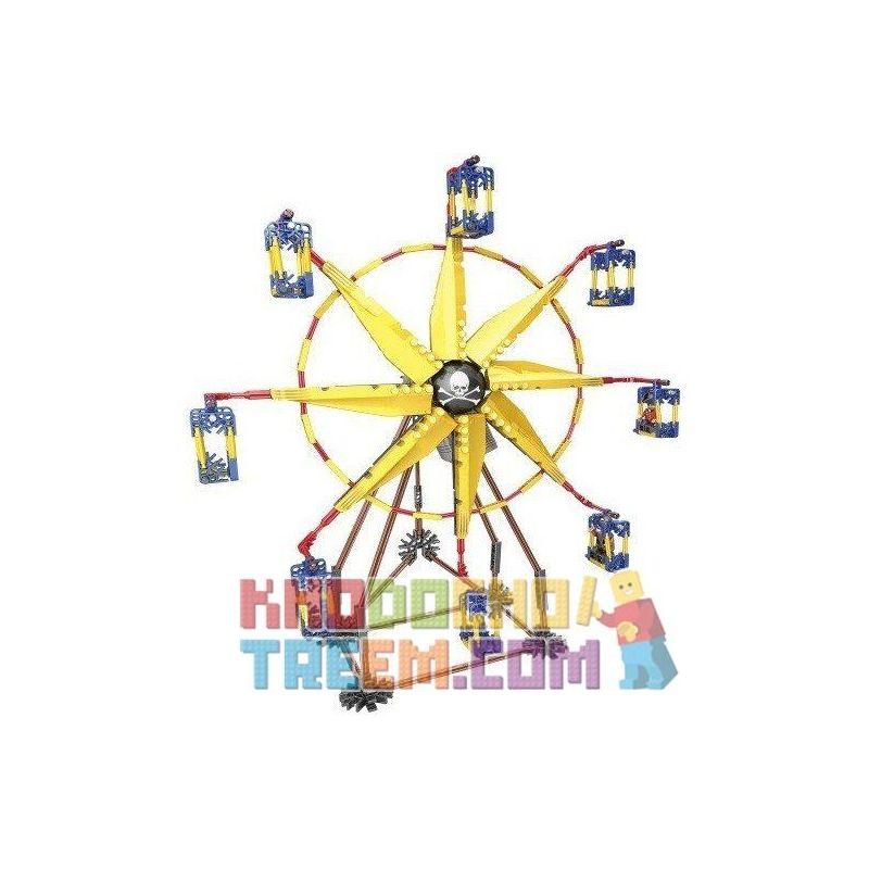 Loz 2011 (NOT Lego Loz Electric Amusement Park Electric Amusement Park Ferris Wheel ) Xếp hình Đu Quay Hình Chong Chóng 8 Cánh Có Động Cơ Pin 309 khối