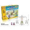 Loz 2013 (NOT Lego Loz Electric Amusement Park Electric Amusement Park Carrousel Small Rotating Cable Car ) Xếp hình Đu Quay 4 Chỗ Treo Dây Động Cơ Pin 399 khối