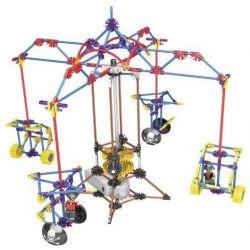 Lego Technic Loz 2013 Electric Amusement Park Carrousel Small Rotating Cable Car Xếp hình đu quay 4 chỗ treo dây động cơ pin 399 khối