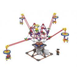 Lego Technic Loz 2014 Electric Amusement Park Octopus Dandelion Xếp hình đu quay 4 tay văng động cơ pin 338 khối