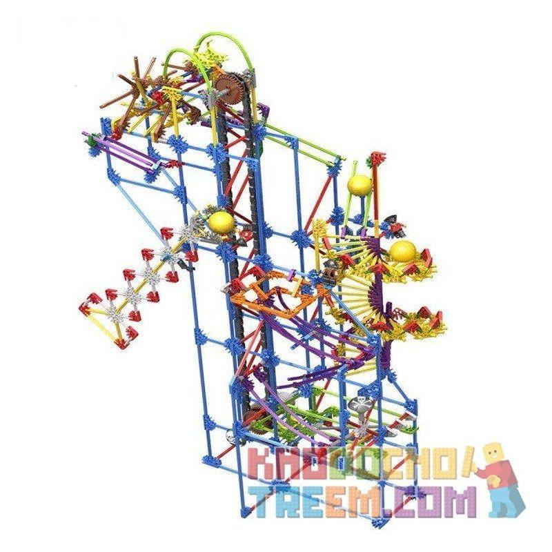 Loz 2017 Technic Electric Amusement Park Rolling Ball Xếp hình Hệ Thống Máng Lăn Bi Động Cơ Pin 902 khối
