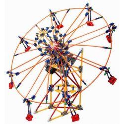 Lego Technic Loz 2021 P0002 Electric Amusement Park Whirly Ferris Wheel Rotating Wheel Xếp hình đu quay tròn nghiêng 8 ghế động cơ pin 537 khối