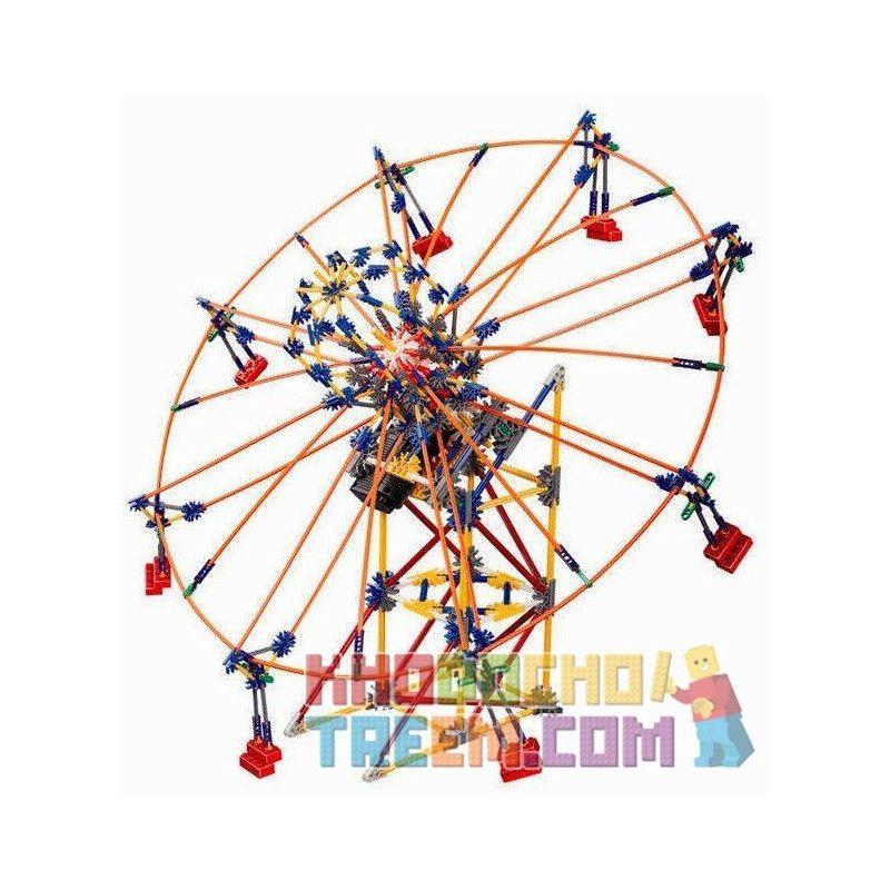 Loz 2021 P0002 (NOT Lego Loz Electric Amusement Park Electric Amusement Park Whirly Ferris Wheel Rotating Wheel ) Xếp hình Đu Quay Tròn Nghiêng 8 Ghế Động Cơ Pin gồm 2 hộp nhỏ 537 khối