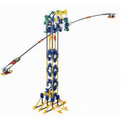 Lego Technic Loz 2022 P0004 Electric Amusement Park Whirly Propeller Giant Circle Xếp hình đu văng 2 cánh động cơ pin 416 khối