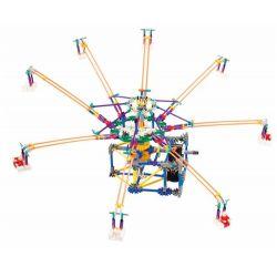 Lego Technic Loz 2023 P0005 Electric Amusement Park Octopus Whirly Movable Xếp hình đu quay 8 tay văng nghiêng động cơ pin 512 khối