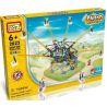 Loz 2023 P0005 (NOT Lego Loz Electric Amusement Park Electric Amusement Park Octopus Whirly Movable ) Xếp hình Đu Quay 8 Tay Văng Nghiêng Động Cơ Pin gồm 2 hộp nhỏ 512 khối