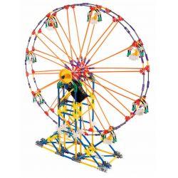 Lego Technic Loz 2024 P0006 Electric Amusement Park Happy Ferris Wheel Xếp hình đu quay tròn kép đứng 8 ghế động cơ pin 660 khối