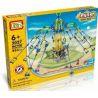 Loz 2027 P0003 Technic Electric Amusement Park Rotary Giant Stride Swing Xếp hình Đu Quay Dây Văng 8 Ghế Động Cơ Pin 853 khối