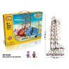 Loz 2028 C0002 Technic Electric Amusement Park Roller Coaster Xếp hình tàu lượn siêu tốc động cơ pin 785 khối