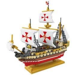 Nanoblock Pirates Loz 9048 Santa Maria Xếp hình tàu Santa Maria mà Christopher Columbus dùng thám hiểm châu Mỹ 2660 khối
