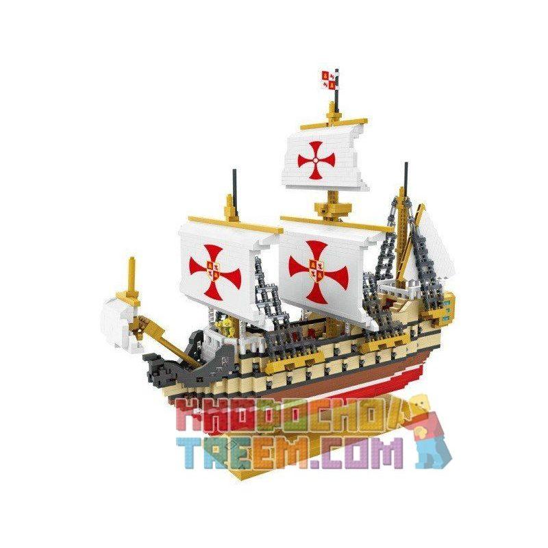 Loz 9048 Creator Series Santa Maria Xếp hình Tàu Santa Maria - Christopher Columbus Dùng Thám Hiểm Châu Mỹ 2660 khối