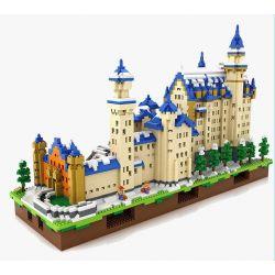 Loz 9049 Architecture Neuschwanstein Xếp hình quần thể lâu đài Neuschwanstein lớn 6800 khối
