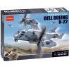 Decool 2113 Military Army MOC Bell Boeing V 22 Osprey Aircraft Xếp hình máy bay quân sự Chim Ưng Biển 318 khối