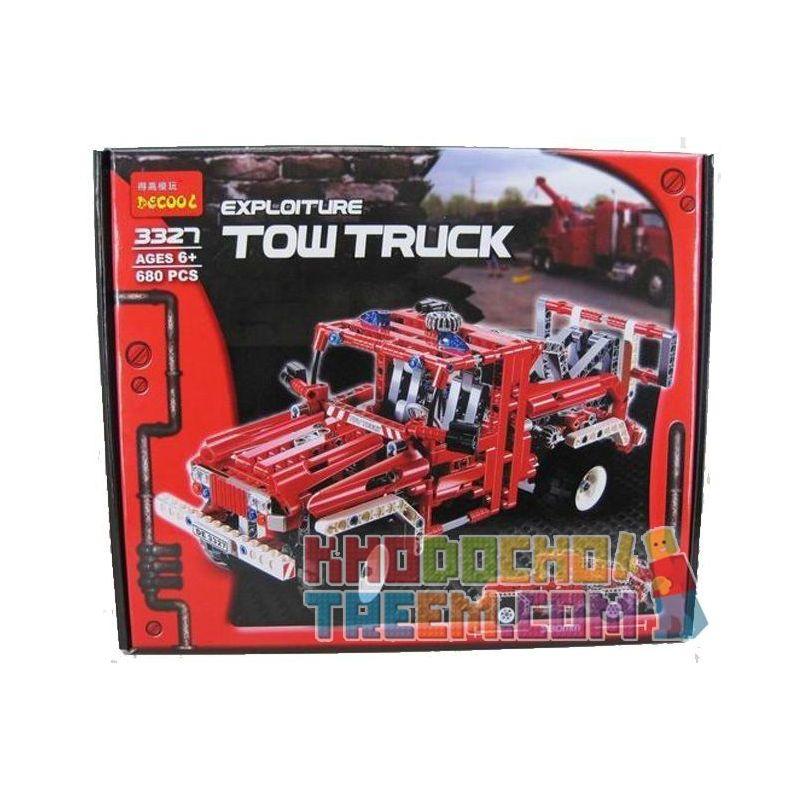 Decool 3327 (NOT Lego Technic 8289 Pick Up Tow Truck ) Xếp hình Xe Cứu Hộ Giao Thông (Mẫu 2) 1035 khối