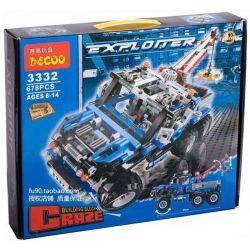 Decool 3332 Technic 8435 Off Road Truck style 2 Xếp hình xe bán tải 2 cầu 6 bánh có cần cẩu nhỏ 678 khối