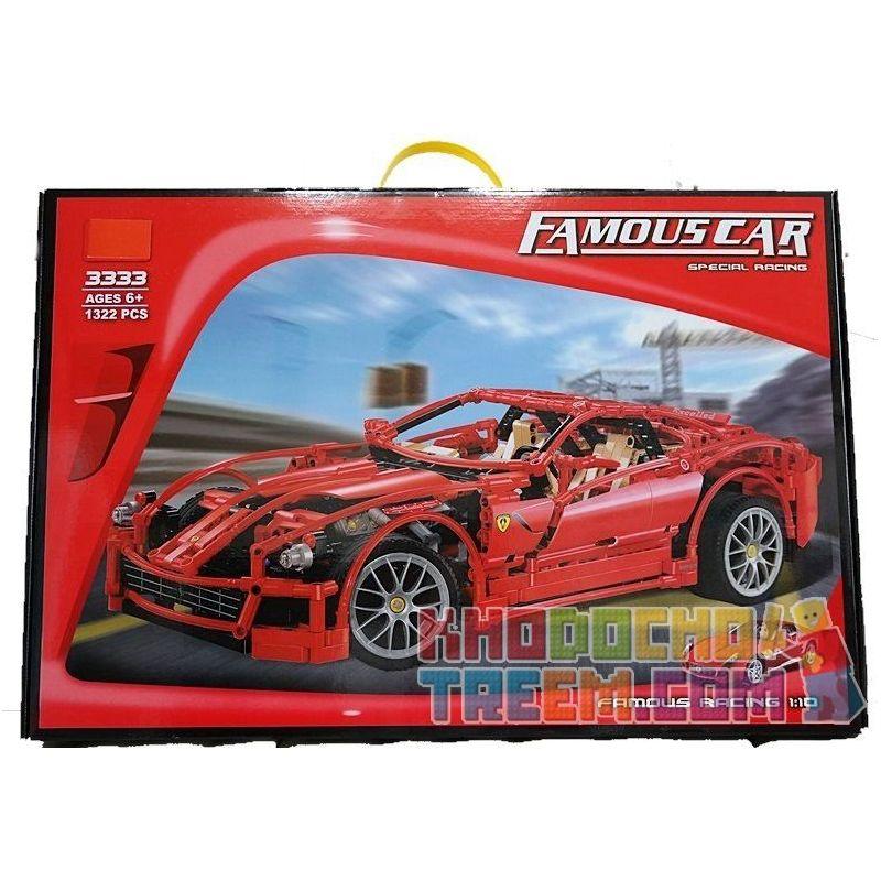 Decool 3333 Technic 8145 Ferrari 599 Gtb Fiorano 1:10 Xếp hình Siêu Xe Tỉ Lệ 1:10 1327 khối