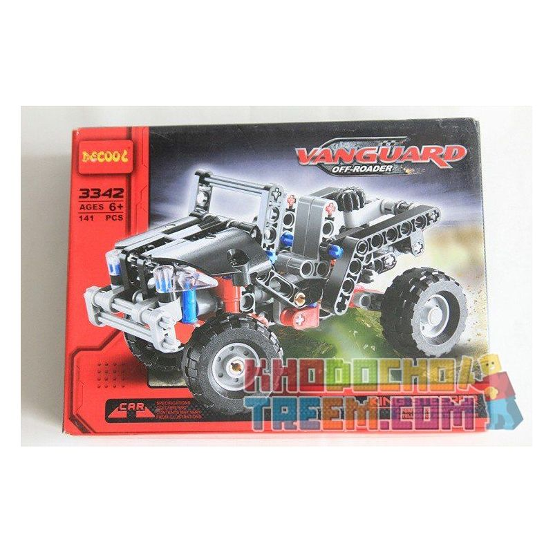 NOT Lego TECHNIC 8066 Off-Roader, Decool 3342 3343 Jisi 3342 3343 Xếp hình Xe ô Tô Jeep ( Mẫu 1) 141 khối