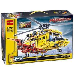Decool 3357 Jisi 3357 Xếp hình kiểu Lego TECHNIC Helicopter 2 Dạng Máy Bay Trực Thăng 1056 khối