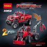 Decool 3362 Lele 38038 (NOT Lego Technic 42029 Customised Pick-Up Truck ) Xếp hình 2 Dạng Xe Bán Tải Độ Và Máy Cày Có Cần Gắp 1063 khối