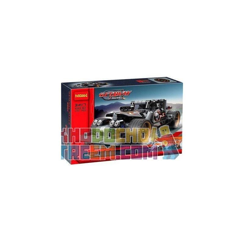 NOT Lego TECHNIC 42046 Getaway Racer, BRICKCOOL 3417 LEPIN 20081 QUNLONG QL0403 0403 Xếp hình xe ô tô ma tốc độ 170 khối có động cơ kéo thả