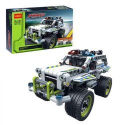 NOT Lego TECHNIC 42047 Police Interceptor, Decool 3418 Jisi 3418 QUNLONG QL0402 0402 Xếp hình xe cảnh sát đánh chặn 185 khối có động cơ kéo thả