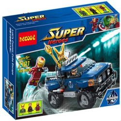 Decool 7101 Jisi 7101 Xếp hình kiểu Lego MARVEL SUPER HEROES Loki's Cosmic Cube Escape Rocky Cosmic Magic Escape Loki đánh Cắp Khối Vuông Cosmic 181 khối