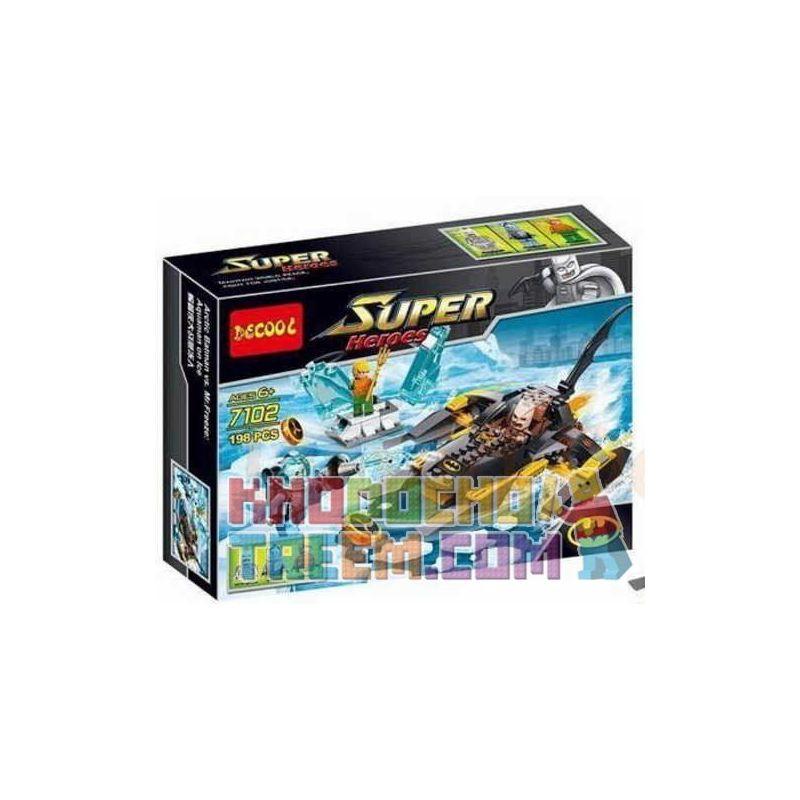 Decool 7102 Sheng Yuan 301 SY301 (NOT Lego DC Comics Super Heroes 76000 Arctic Batman Vs. Mr. Freeze: Aquaman On Ice ) Xếp hình Trận Chiến Của Người Dơi Và Người Băng: Aquaman Trên Băng 198 khối