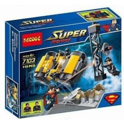 Decool 7103 Jisi 7103 Xếp hình kiểu Lego DC COMICS SUPER HEROES Superman Metropolis Showdown Superman Urban Big Battle Siêu Nhân Chiến đấu Trong Thành Phố 119 khối