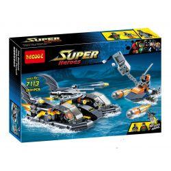 Decool 7113 Sheng Yuan 510 SY510 (NOT Lego DC Comics Super Heroes 76034 Batboat Harbour Pursuit ) Xếp hình Tàu Cao Tốc Của Người Dơi Truy Đuổi Kẻ Thù 264 khối