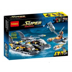 Decool 7113 Jisi 7113 SHENG YUAN SY 510 SY510 Xếp hình kiểu Lego DC COMICS SUPER HEROES Batboat Harbour Pursuit Bat Ship Harbor Pursuit Tàu Cao Tốc Của Người Dơi Truy đuổi Kẻ Thù 264 khối