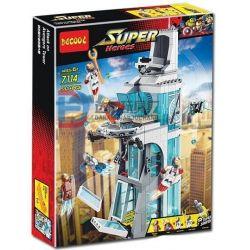 Decool 7114 Jisi 7114 LELE 79128 LEPIN 07016 SHENG YUAN SY 1180 SH678 SY1349 1349 SY370 Xếp hình kiểu Lego MARVEL SUPER HEROES Attack On Avengers Tower Offensive Avengers Union Headquarters Tấn Công T