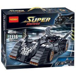 Decool 7116 Jisi 7116 Xếp hình kiểu THE LEGO BATMAN MOVIE The Batmobile Ultimate Collectors' Edition Batman The Version Of The Ultimate Collector Siêu Xe Của Người Dơi 1045 khối