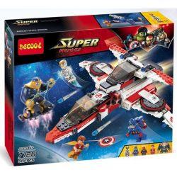 NOT Lego MARVEL SUPER HEROES 76049 Avenjet Space Mission, Decool 7120 Jisi 7120 LEPIN 07022 SHENG YUAN SY 576 SY576 Xếp hình nhiệm vụ của phi thuyền Biệt Đội Siêu Anh Hùng 523 khối
