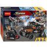 Decool 7121 Lepin 07031 Sheng Yuan 582 SY582 (NOT Lego Marvel Super Heroes 76050 Crossbones' Hazard Heist ) Xếp hình Vụ Cướp Mạo Hiểm 179 khối