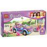 Bela 10167 (NOT Lego Friends 3183 Stephanie's Cool Convertible ) Xếp hình Xe Hơi Điệu Đà Của Stephanie 130 khối