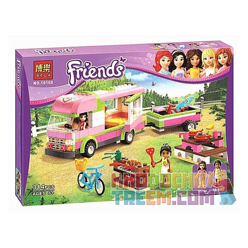 Bela 10168 (NOT Lego Friends 3184 Adventure Camper ) Xếp hình Chuyến Thăm Quan Cắm Trại 314 khối