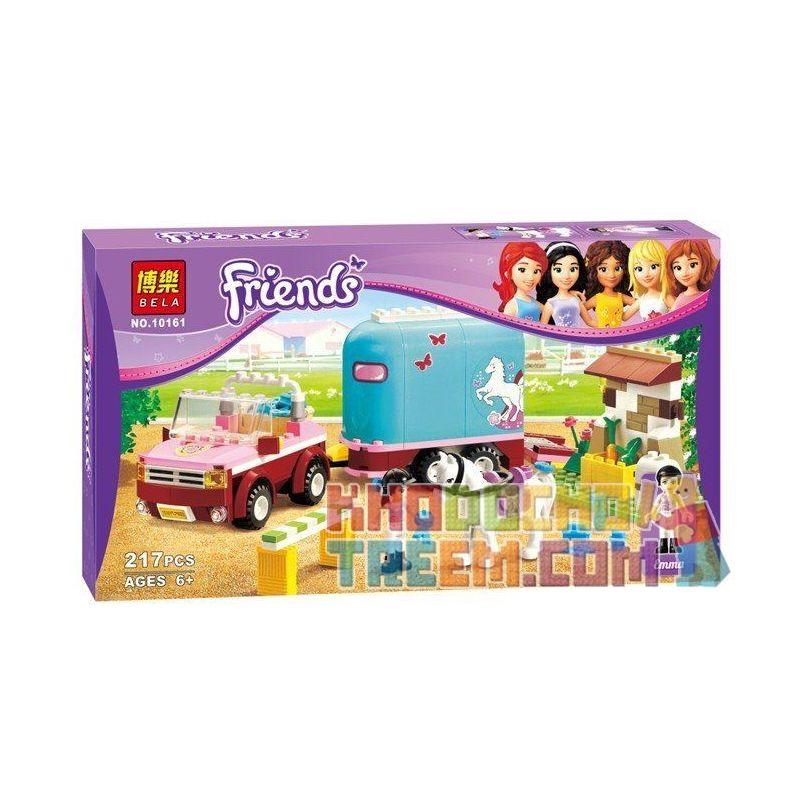 Bela 10161 (NOT Lego Friends 3186 Emma's Horse Trailer ) Xếp hình Huấn Luyện Viên Dạy Ngựa Của Emma 218 khối