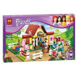 Bela 10163 Lari 10163 Xếp hình kiểu Lego FRIENDS Heartlake Stables Love Lake Machine Chuồng Ngựa Hồ Trái Tim 401 khối