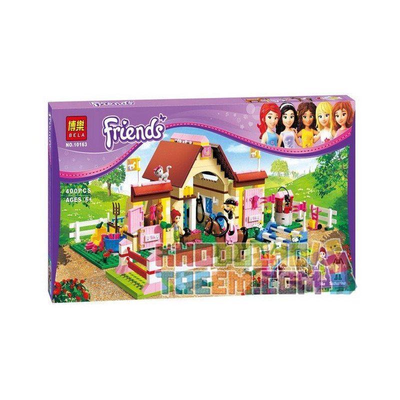NOT Lego FRIENDS 3189 Heartlake Stables, Bela 10163 Lari 10163 Xếp hình chuồng ngựa Hồ Trái Tim 401 khối