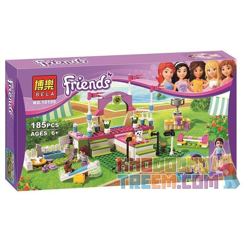 NOT Lego FRIENDS 3942 Heartlake Dog Show, Bela 10159 Lari 10159 Xếp hình buổi trình diễn của chú chó Hồ Trái Tim 183 khối