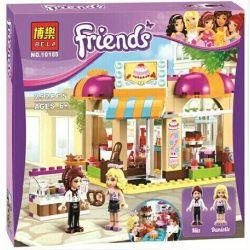 Bela 10165 Lari 10165 Xếp hình kiểu Lego FRIENDS Downtown Bakery City Cake Room Cửa Hàng Bánh Dưới Phố 253 khối