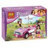 Bela 10154 (NOT Lego Friends 41013 Emma's Sports Car ) Xếp hình Ô Tô Thể Thao Của Emma 160 khối