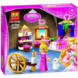 Bela 10433 Lari 10433 Xếp hình kiểu Lego DISNEY PRINCESS Sleeping Beauty's Royal Bedroom Royal Bedroom Sleeping Phòng Ngủ Công Chúa Ngủ Trong Rừng 96 khối