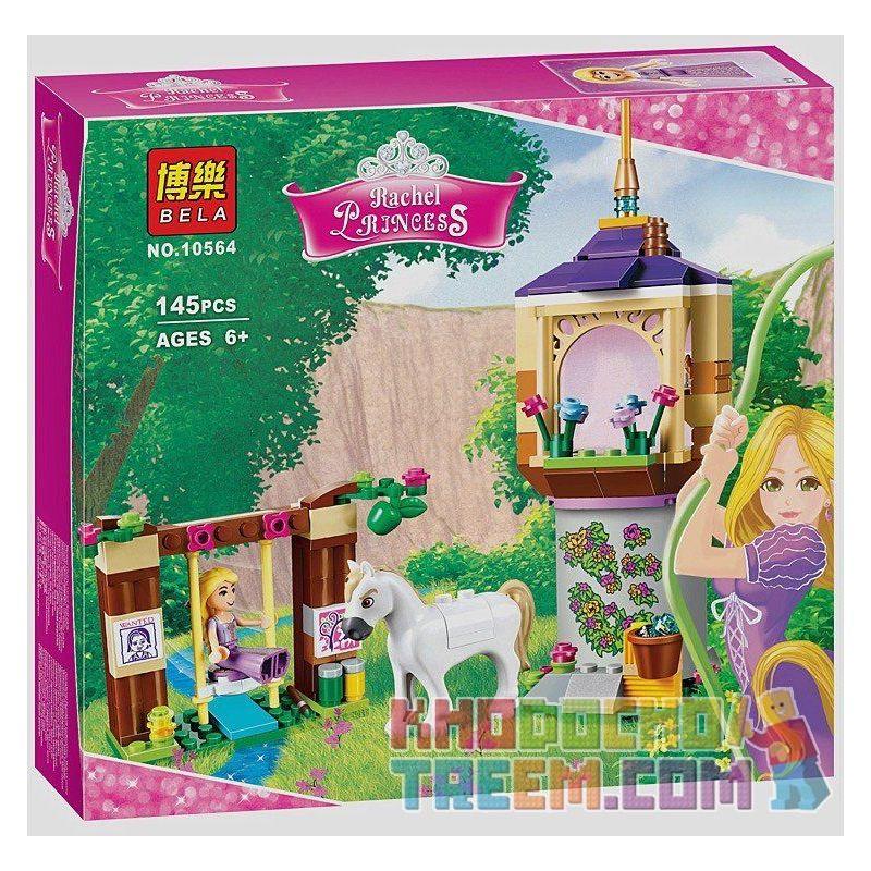 NOT Lego DISNEY PRINCESS 41065 Rapunzel's Best Day Ever, Bela 10564 Lari 10564 LELE 37000 Xếp hình ngày đẹp nhất của công chúa tóc dài 145 khối