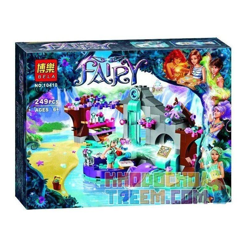 NOT Lego ELVES 41072 Naida's Spa Secret, Bela 10410 Lari 10410 Xếp hình nơi nghỉ thư giãn bí mật của Naida 249 khối